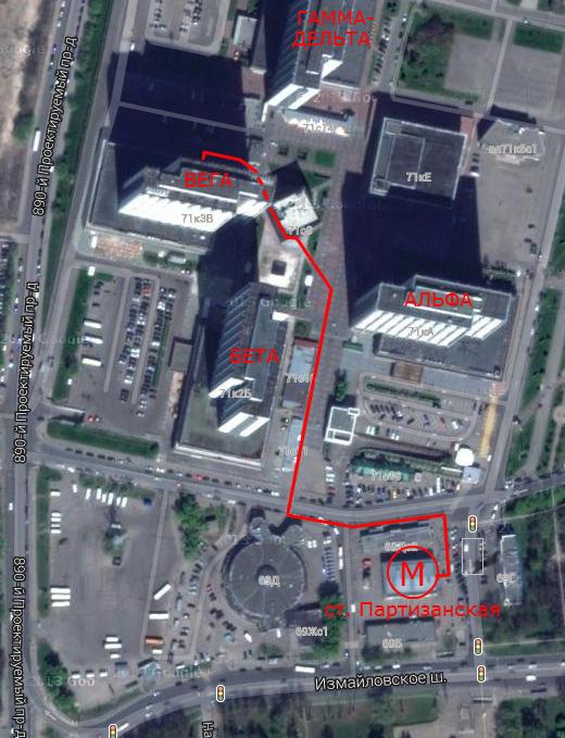 """Выход из метро на станции  """"Партизанская """"единственный, для приехавших из центра города -в хвост поезда."""