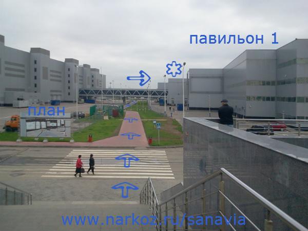павильонов Крокус-Экспо.